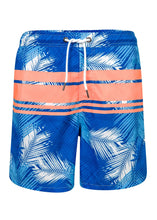 Load image into Gallery viewer, Men's Tropical Neon Stripe Boardie - Bohemian Mama