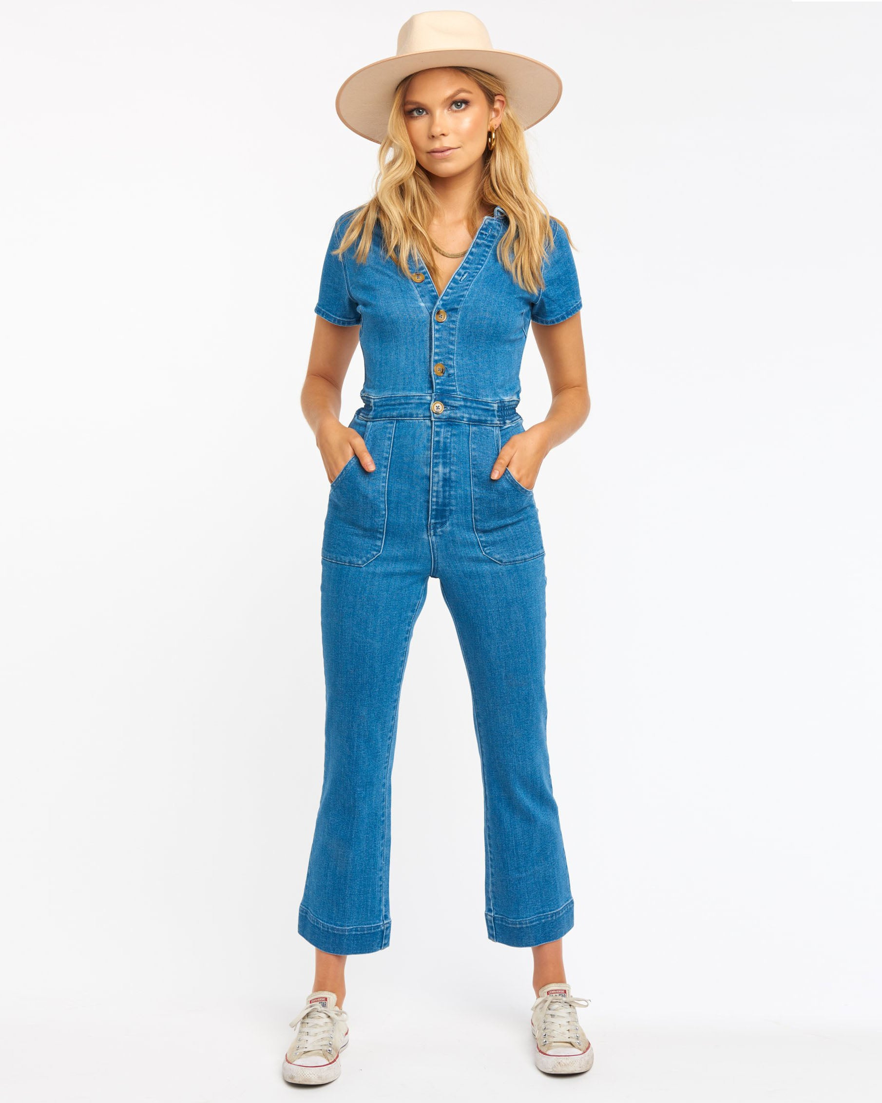 Load image into Gallery viewer, Emery Jumpsuit - French Blue | Show Me Your Mumu - Women's Clothing