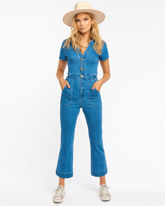 Emery Jumpsuit - French Blue | Show Me Your Mumu - Women's Clothing