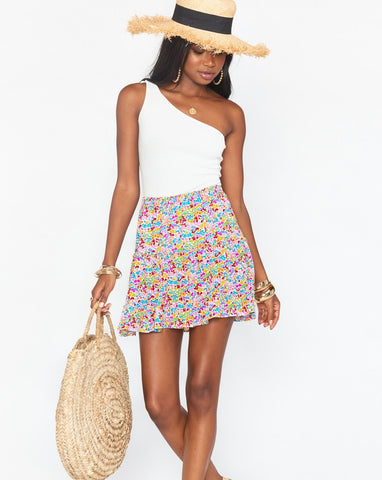 Devon Mini Skirt Rainbow Fields