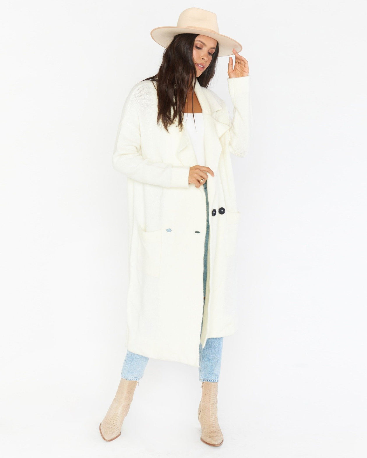 Melrose Sweater Jacket - Cream Knit | Show Me Your Mumu - Women's Outerwear