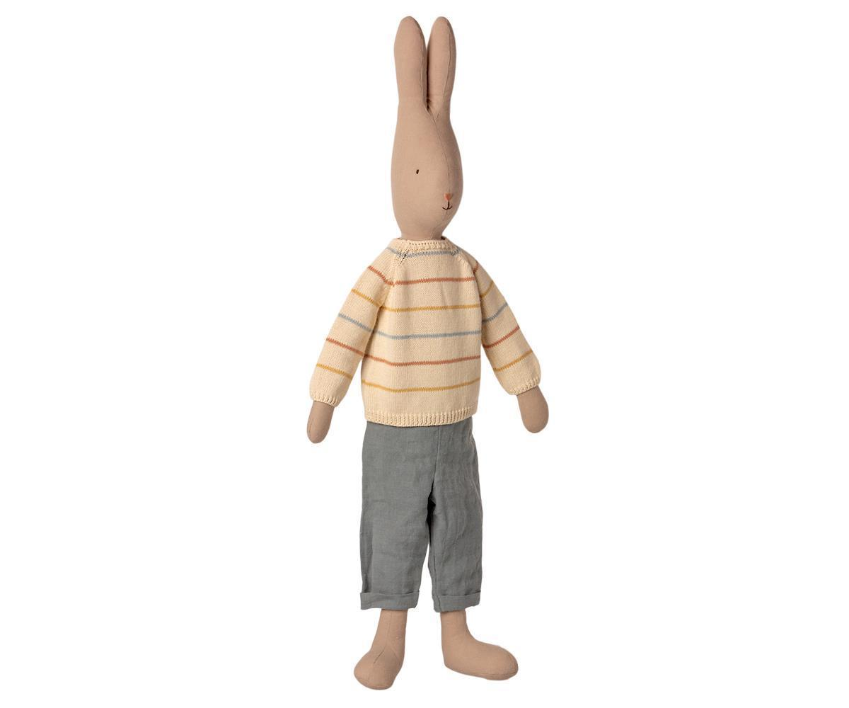 Maileg Rabbit Size 5 Pants And Knitted Sweater