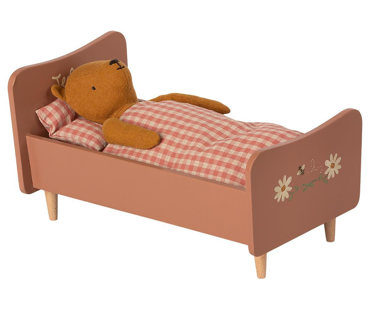 Load image into Gallery viewer, Presale Wooden Bed Teddy Mom Rose