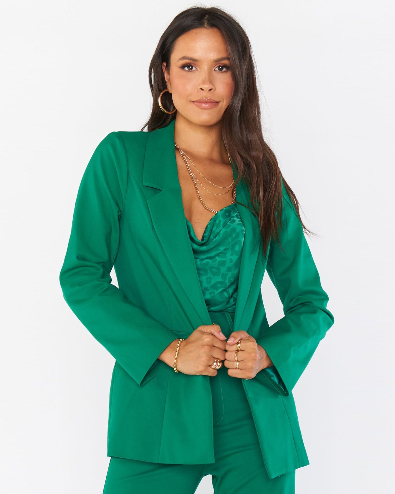 Vintage Coats & Jackets | Retro Coats and Jackets Major Blazer - Green Suiting $188.00 AT vintagedancer.com