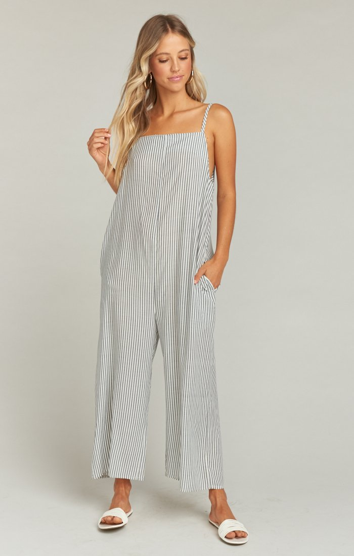 Mama T Overalls in Everyday Stripe by Show Me Your Mumu