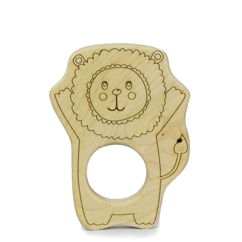 Lion Wood Toy Teether