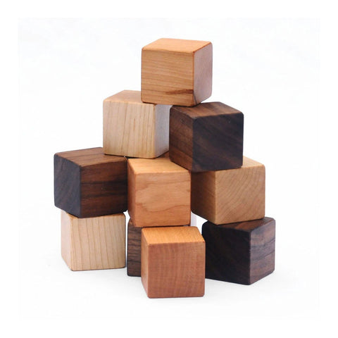 Natural Wood Blocks Set - 12 Blocks