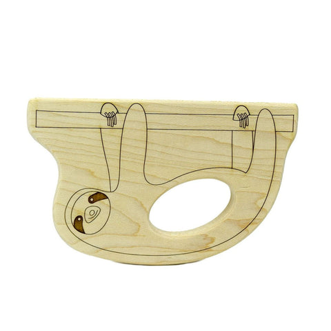 Sloth Wood Toy Teether