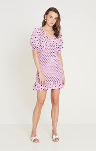 Faithfull The Brand Margherita Mini Dress Sylve Dot Print