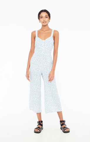 Marija Jumpsuit in Bella Floral Print Riviera Blue by Faithfull The Brand
