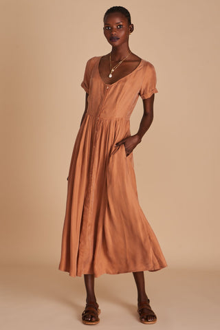 Sancia Marjeta Dress in Clay