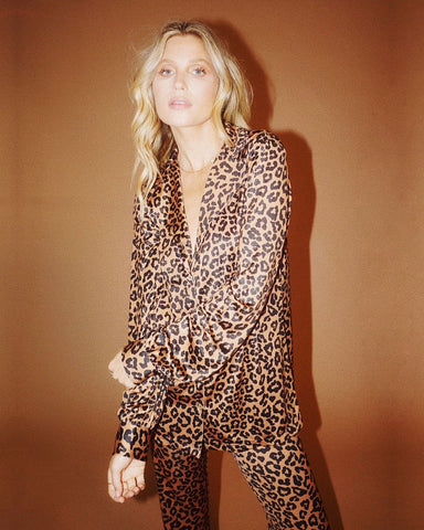 Mary Blouse - Leopard