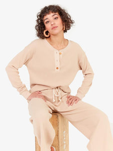 Elliot Thermal Henley - Latte