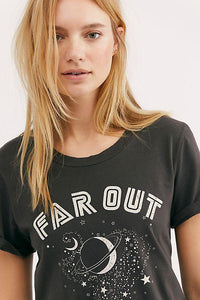 The Alex Crew Far Out Graphic Tee made with 100% GOTS Organic Cotton from Mate The Label