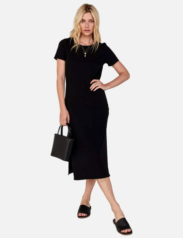 Dana Midi Dress - Jet Black