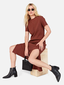 Layla Thermal Dress Tobacco | MATE The Label