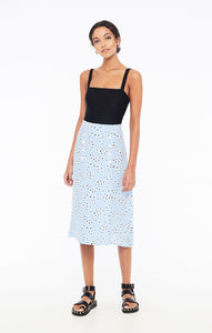Maya Skirt in Essa Floral Print Riviera Blue by Faithfull The Brand