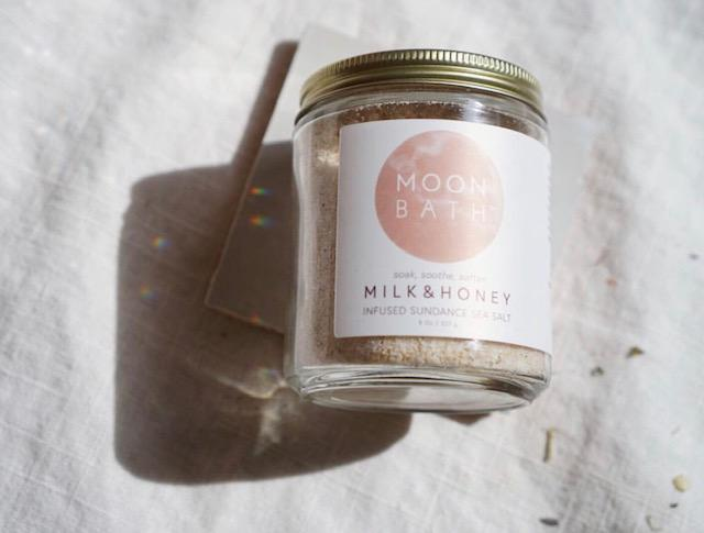 Milk & Honey Infused Salt from Moon Bath - Bath + Shower