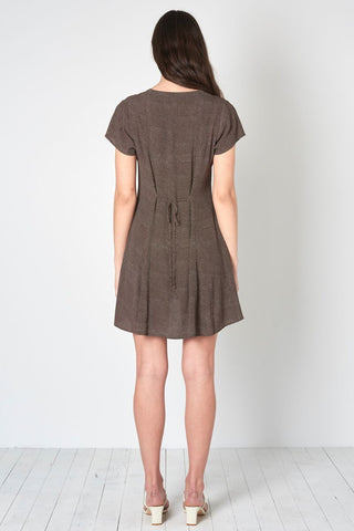 Milla Dress - Mini Spot Brown