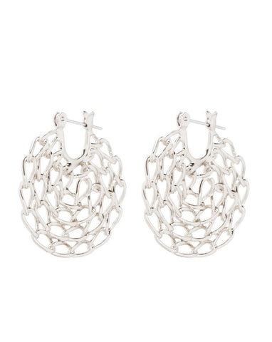 Mini Twisted Chain Hoops - Silver