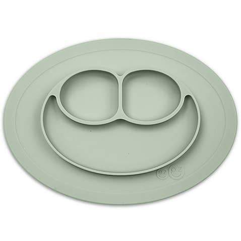 Mini Mat Suction Toddler Plate - Sage