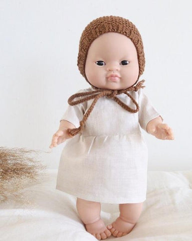 MiniKane Little Asian Baby Girl Doll - Brown Eyes