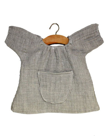 Minikane Jeanne Double Gauze Cotton Dress - Grey