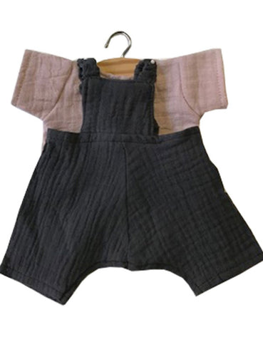 MiniKane Little Juliette Ecru Set - Gray Anthracite