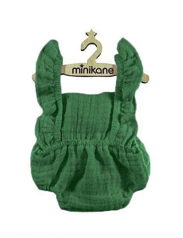 MiniKane Little Doll Ruffle Romper - Green