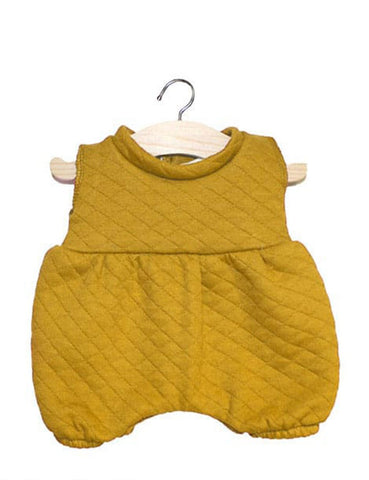 MiniKane Little Doll Stitched Romper - Mustard