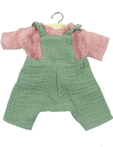 MiniKane Little Jules Ecru Set - Green/Red