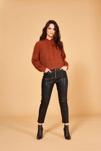 Minkpink Fluffy Knit Jumper Tobacco | Sweaters