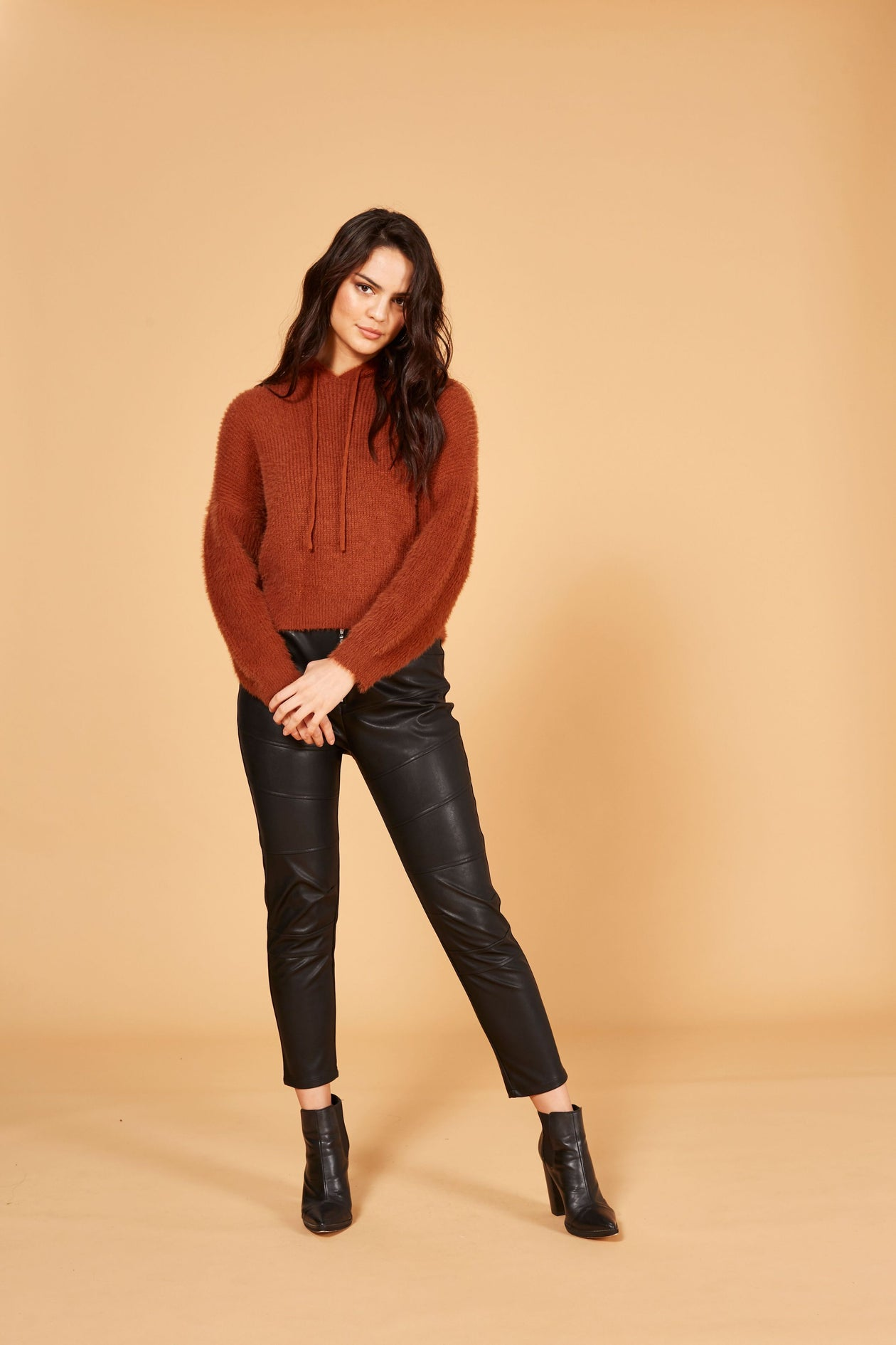 Minkpink Fluffy Knit Jumper Tobacco | Fall 2019