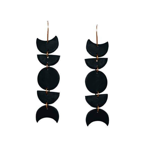 Moon Child Dangles: Poppy Seed