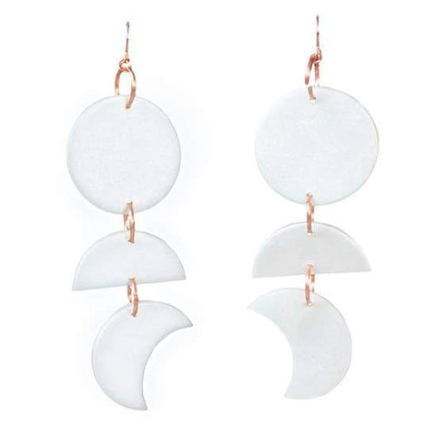 Moon Phase Dangles: Full Moon Pearl