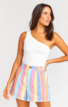 Load image into Gallery viewer, Stewart Shorts - Rainbow Stripe Linen