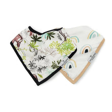 Load image into Gallery viewer, Muslin Bib Set - Sloth