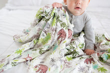 Load image into Gallery viewer, Muslin Swaddle - Sloth