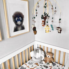 Load image into Gallery viewer, Muslin crib sheet - Safari Jungle Loulou Lollipop
