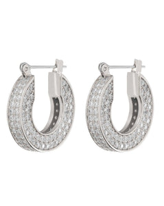 Pave Baby Celine Hoops - Silver | Luv AJ - Holiday 2020 | Women's Jewelry