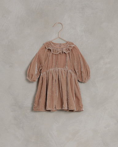 Velvet Dress Dusty Rose