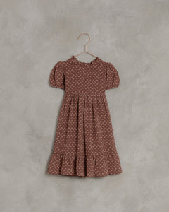 Noralee French Flower Wendy Dress Wine