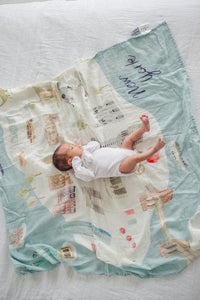 Muslin Swaddle - Cities - New York by Loulou Lollipop