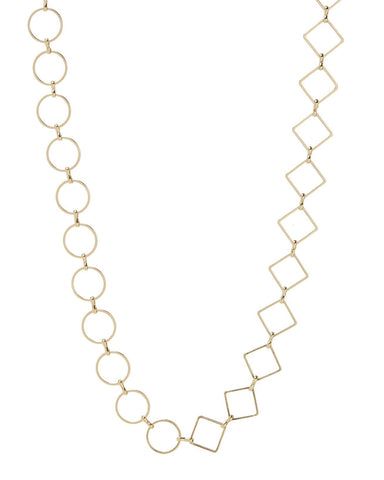 Nour Mixed Chain Necklace - Gold