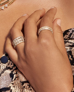 Pave Triple Band - Gold | Luv Aj - Holiday 2020