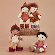 Load image into Gallery viewer, Olli Ella Dinkum Doll Snuggly Set - Toffee