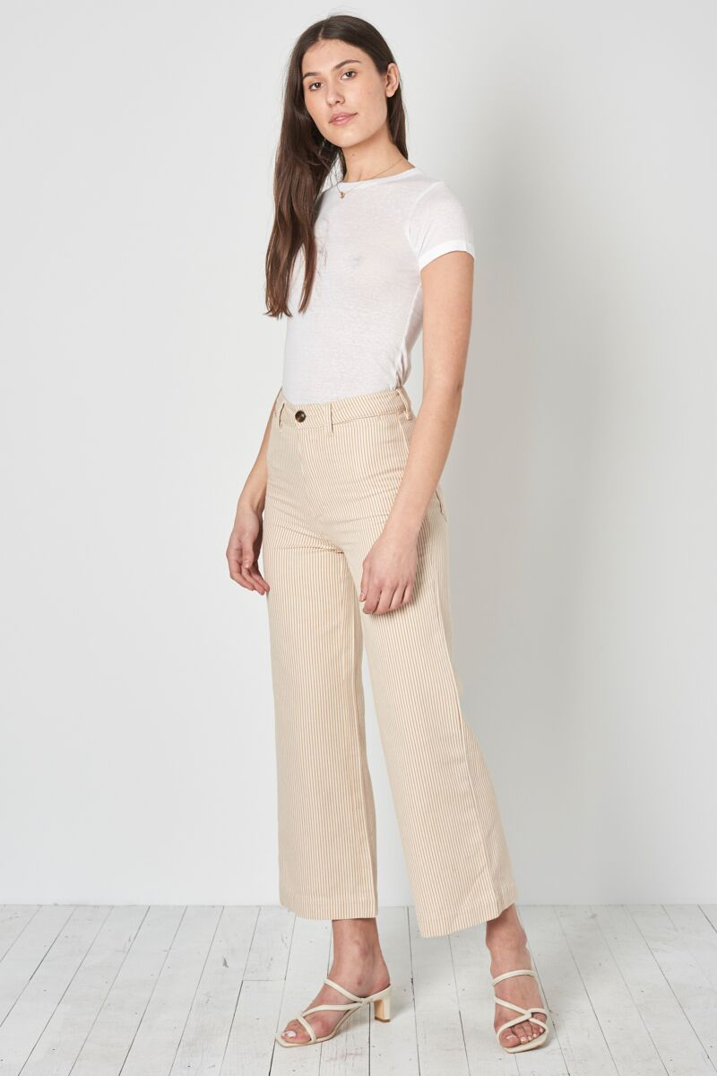 Old Mate Pant in Gold Stripe by Rolla's | Womens