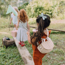 Load image into Gallery viewer, Rattan Backpack for kids. Mini Chari in Straw by Olli Ella