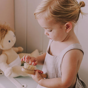 Olli Ella Dinkum Doll Brush | Wooden Toys for Kids