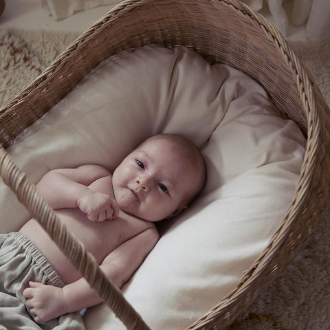 Olli Ella Lyra Mattress Cover | 100% Organic Cotton Moses Basket Mattress Cover for Babies